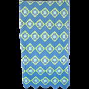 Large Handmade Crochet Knit Blanket Coverlet Afghan Granny Square