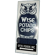 12' Vintage Industrial Wise Potato Chips Metal Sign