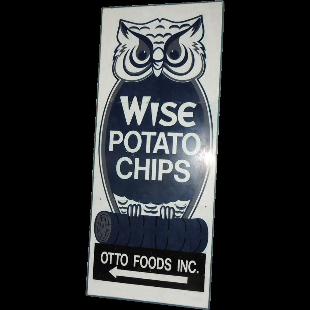 12' Vintage Industrial Wise Potato Chips Metal Sign