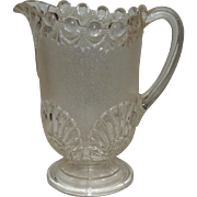 Westmoreland Pressed Glass Pitcher Shell and Jewel