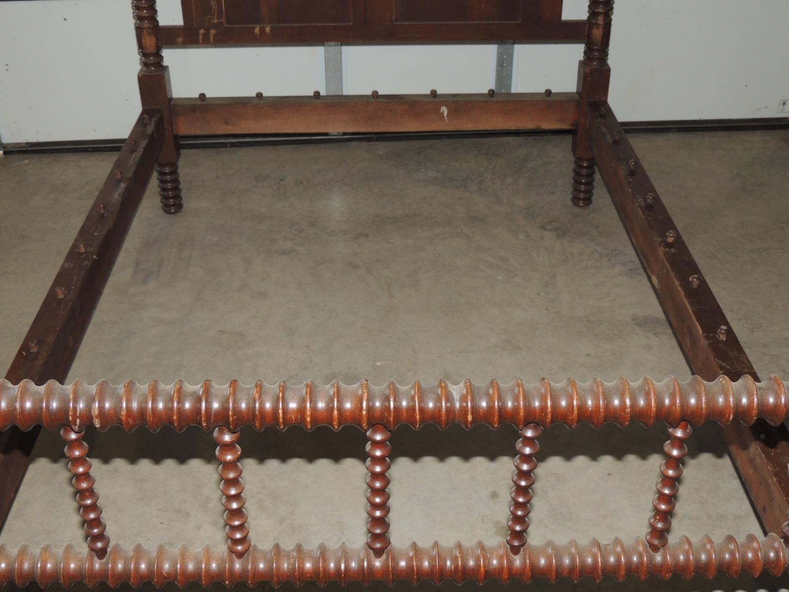 Antique jenny lind spool rope bed from for Rope bed frame