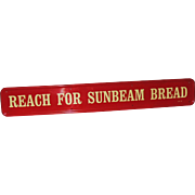 Sunbeam Bread Door Push Handle Advertising Sign