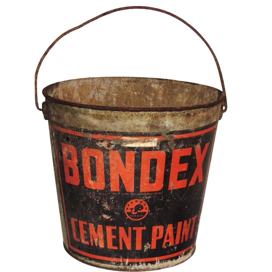 Industrial Bondex Cement Paint Galvanized Metal Bucket