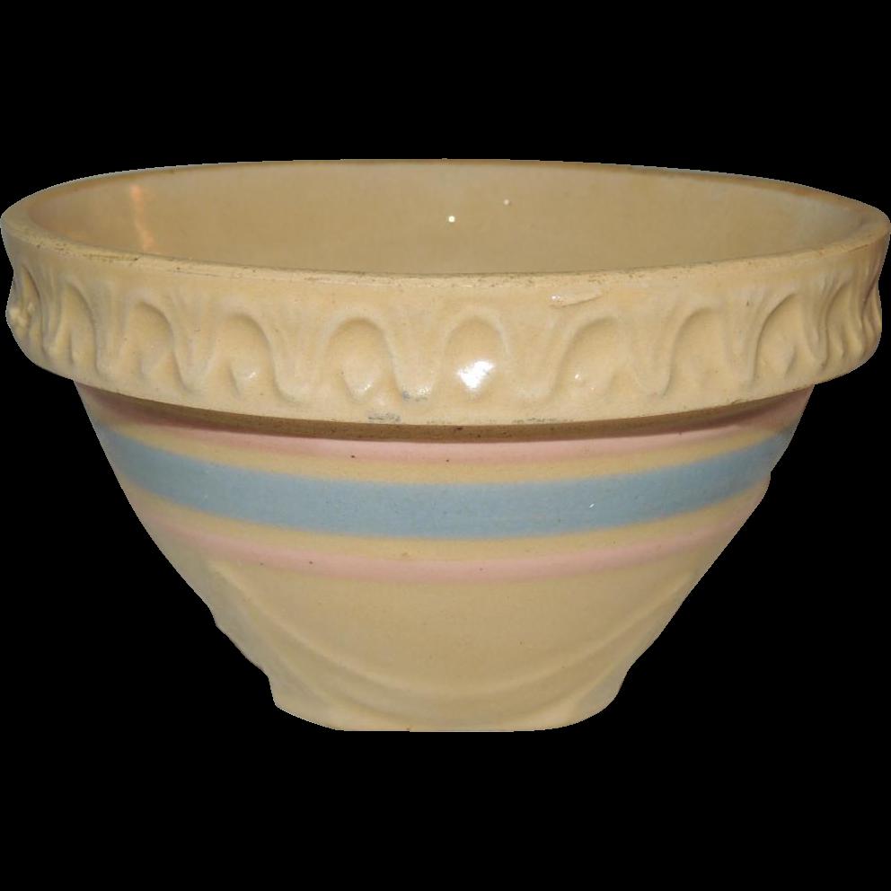 Small McCoy Yellow Ware Mixing Nesting Bowl Stoneware Pottery