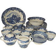 Staffordshire Salem China English Village Dinnerware Set