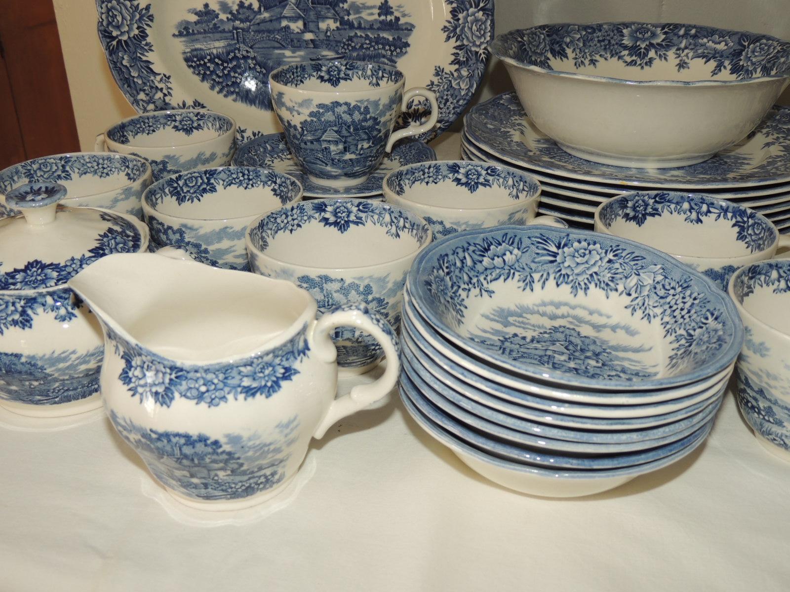 Staffordshire Salem China English Village Dinnerware Set ...
