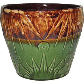 "10"" Robinson Ransbottom RRP Jardiniere Sun and Moon Palmetto"