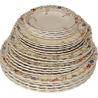 Spode Copeland Wicker Dale China Set 21 Pc