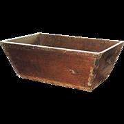 Antique Primitive Canted Dough Box