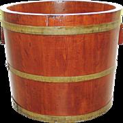 Primitive Staved Wood Firkin Dry Measure Tub