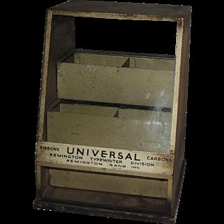 Remington Typewriter Ribbon Industrial Display Case Cabinet