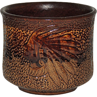 Nelson McCoy Pottery Jardiniere Native American Indian