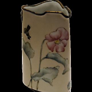 Haviland Limoges Hand Painted Triangle Shaped Porcelain Pitcher c. 1879