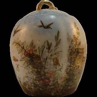 Haviland Limoges Porcelain Jar Hand Painted Impressionist Circa 1882 CFH GDM