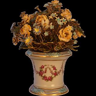Jane Hutcheson Fleurs des Siècles  Provence Rose Enameled Flowers