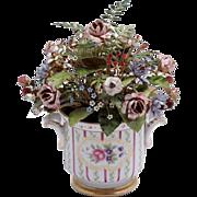 Jane Hutcheson Fleurs des Siècles French Rose Cachepot Enameled Flowers