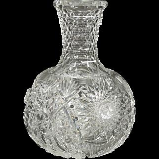 ABP St. Louis Diamond Honeycomb Neck Cut Glass Carafe Bottle