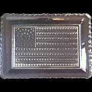 Vintage 38 Star American Flag Platter