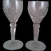 2 Grace Crystal Arista Wine Glasses