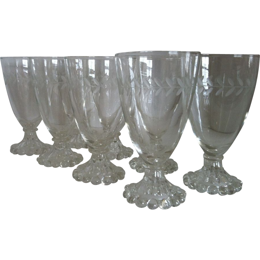 8 Laurel Iced Tea Goblets by Anchor Hocking