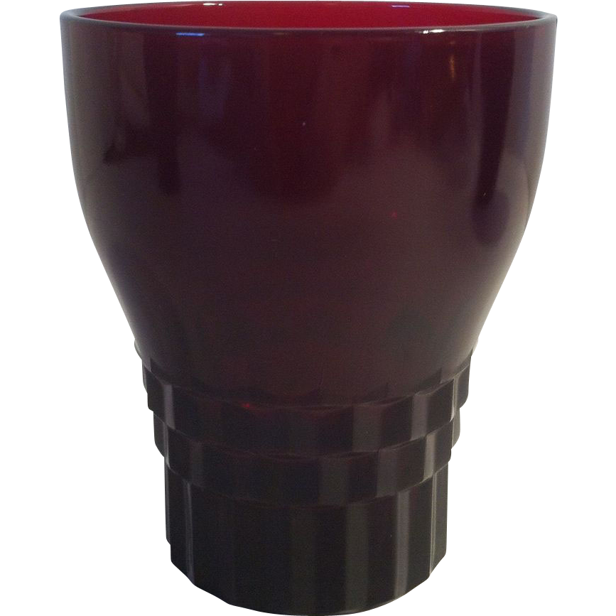 Ruby Windsor Tumbler by Anchor Hocking