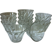 Hazel Atlas Individual  Jello Molds - set of 12