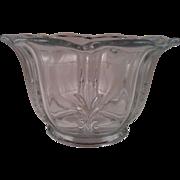Baroque Clear Flat Mayonnaise Bowl