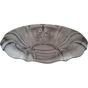 "11"" Baroque Clear Rolled Edge Bowl ~ Fostoria"