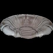 "11"" Baroque Clear Rolled Edge Bowl ~ Fostoria"