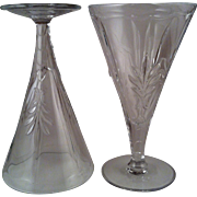 Baroque Clear Water Goblets ~ Fostoria