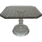 EAPG Daisy & Button Square Pedestal Cake Stand ~ Bryce