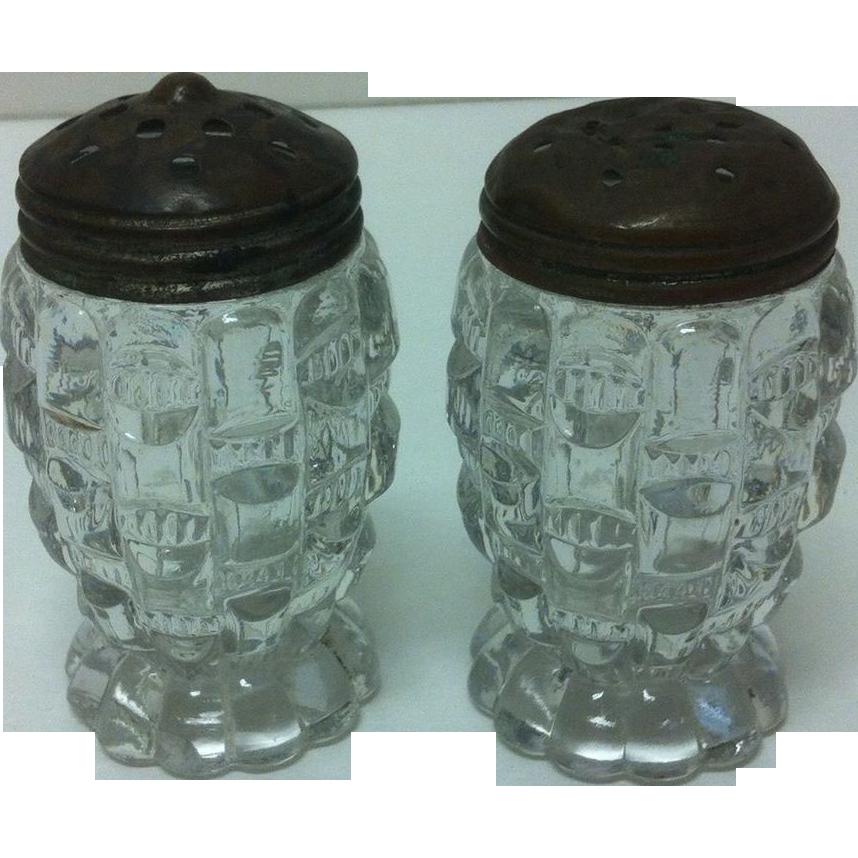 EAPG Bryce Higbee Cut Log / aka Ethol / Salt & Pepper Shakers