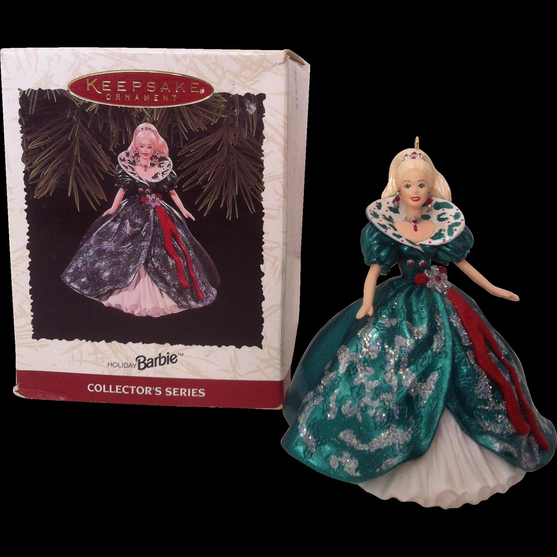 1995 Hallmark Keepsake Ornament  Holiday Barbie Ornament #3