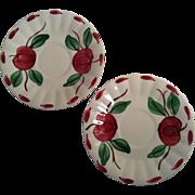 2 Beaded Apple Saucers by Blue Ridge