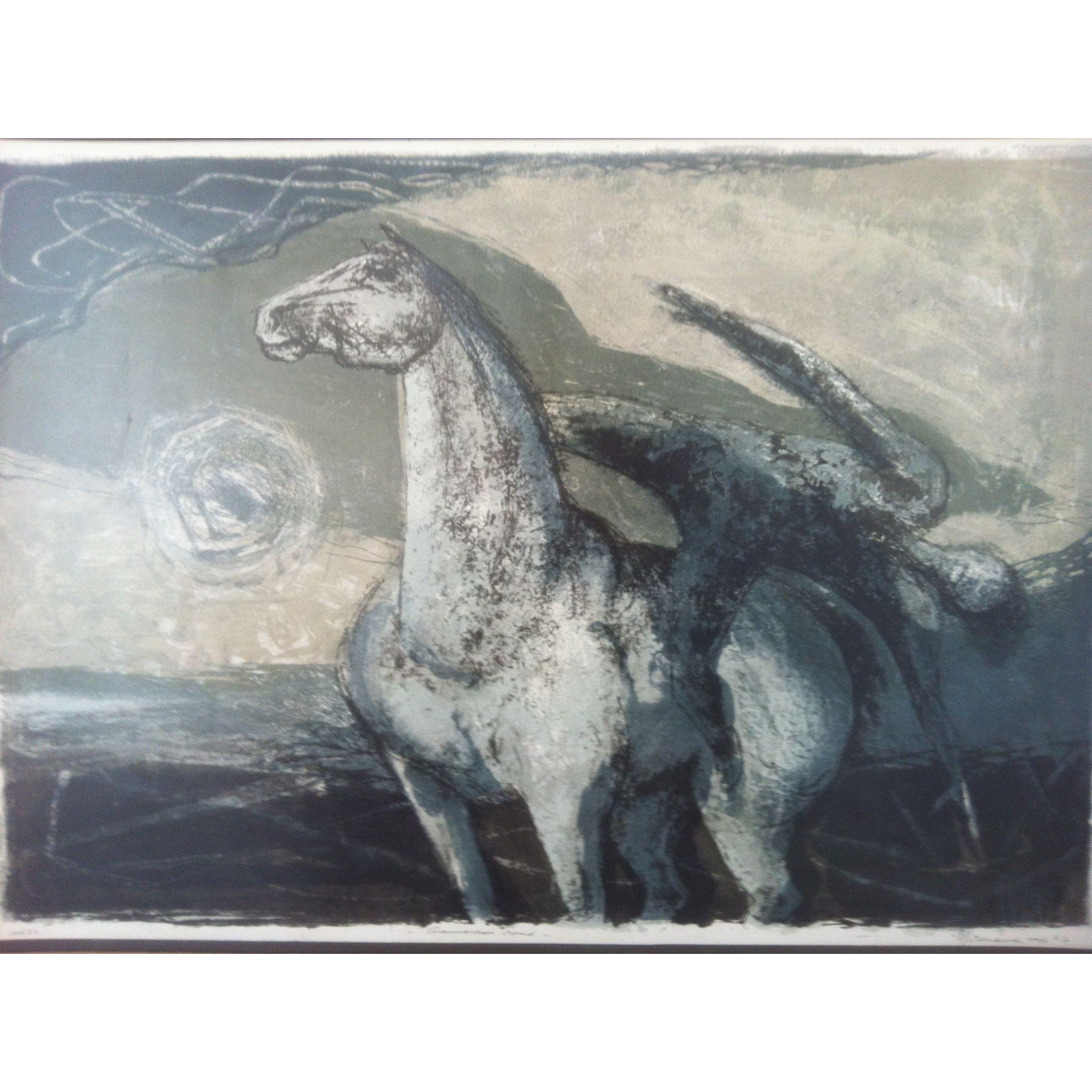 Benton Murdoch Spruance •Damascus• 1962 signed Original Lithograph