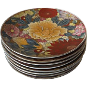 8 Chinese Decorative Floral Porcelain Dinner Plates