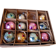 "Poland vintage 1 1/2"" Christmas Balls Set of 11"
