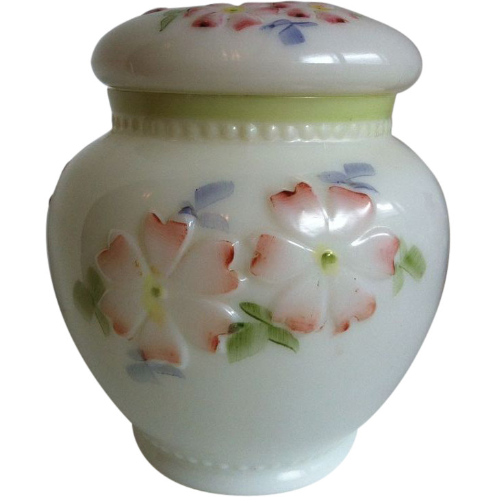 EAPG Consolidated Glass Coreopsis aka Apple Blossom Cracker Jar