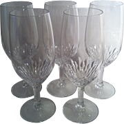 5 Capella Crystal Iced Tea Glasses~ Cristal d' Arques