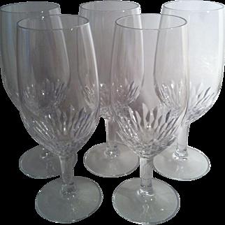 5 Capella Crystal Iced Tea Glasses~ Cristal d' Arques