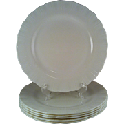 6 Cremax Dinner Plates ~ MacBeth Evans