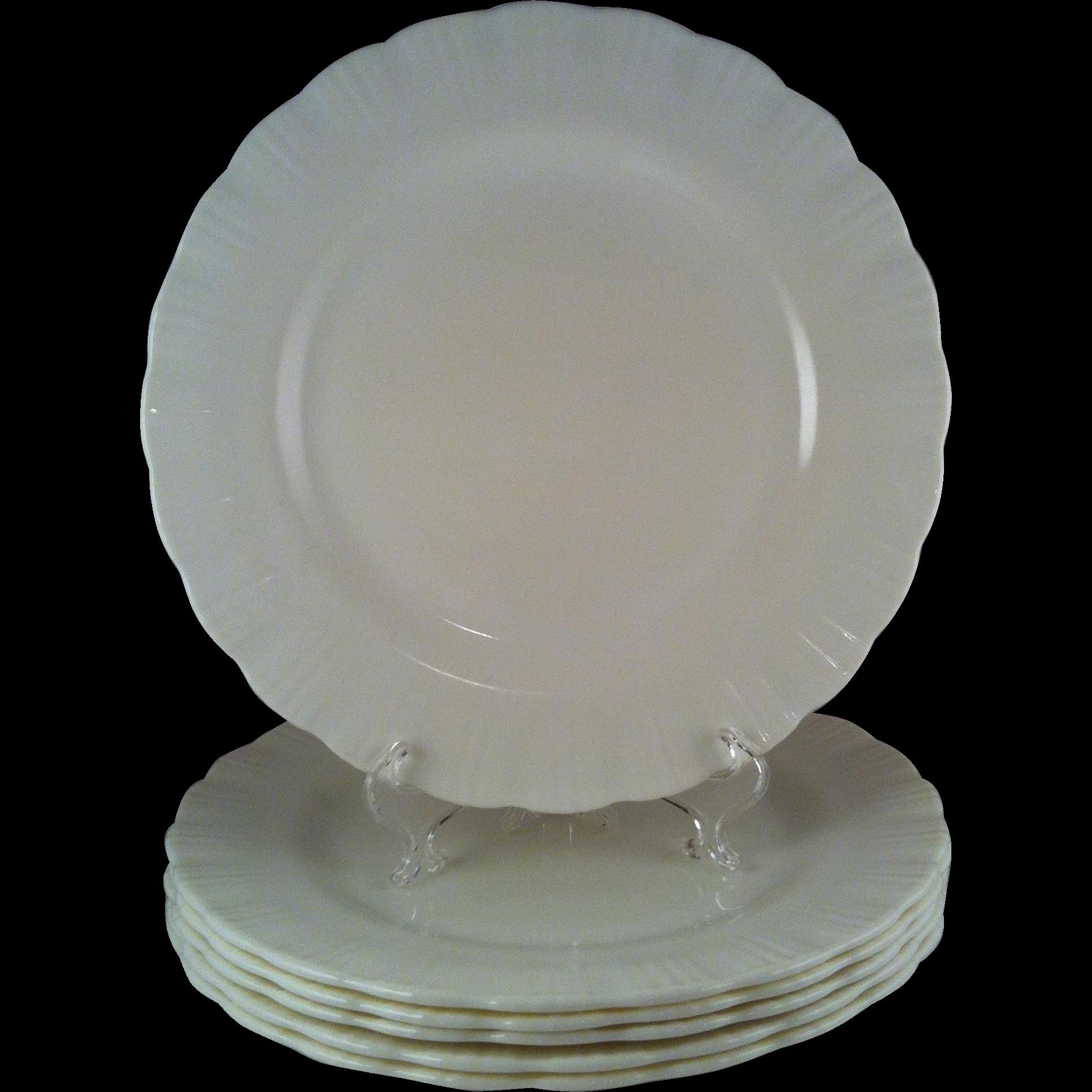 6 Cremax Dinner Plates ~ MacBeth Evans