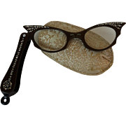 Vintage Cat Eye Lorgnette Glasses