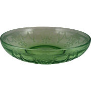 Large Fruit Bowl Cameo Green ~ Anchor Hocking