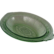 Cameo Green Oval Vegetable Bowl