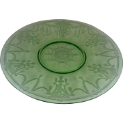 Sandwich Plate in Cameo Ballerina Green ~ Anchor Hocking