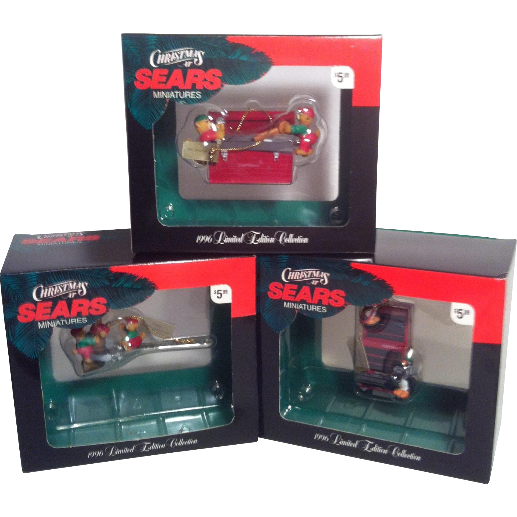 1996 Craftsman Limited Edition Miniature Ornaments~ set of three