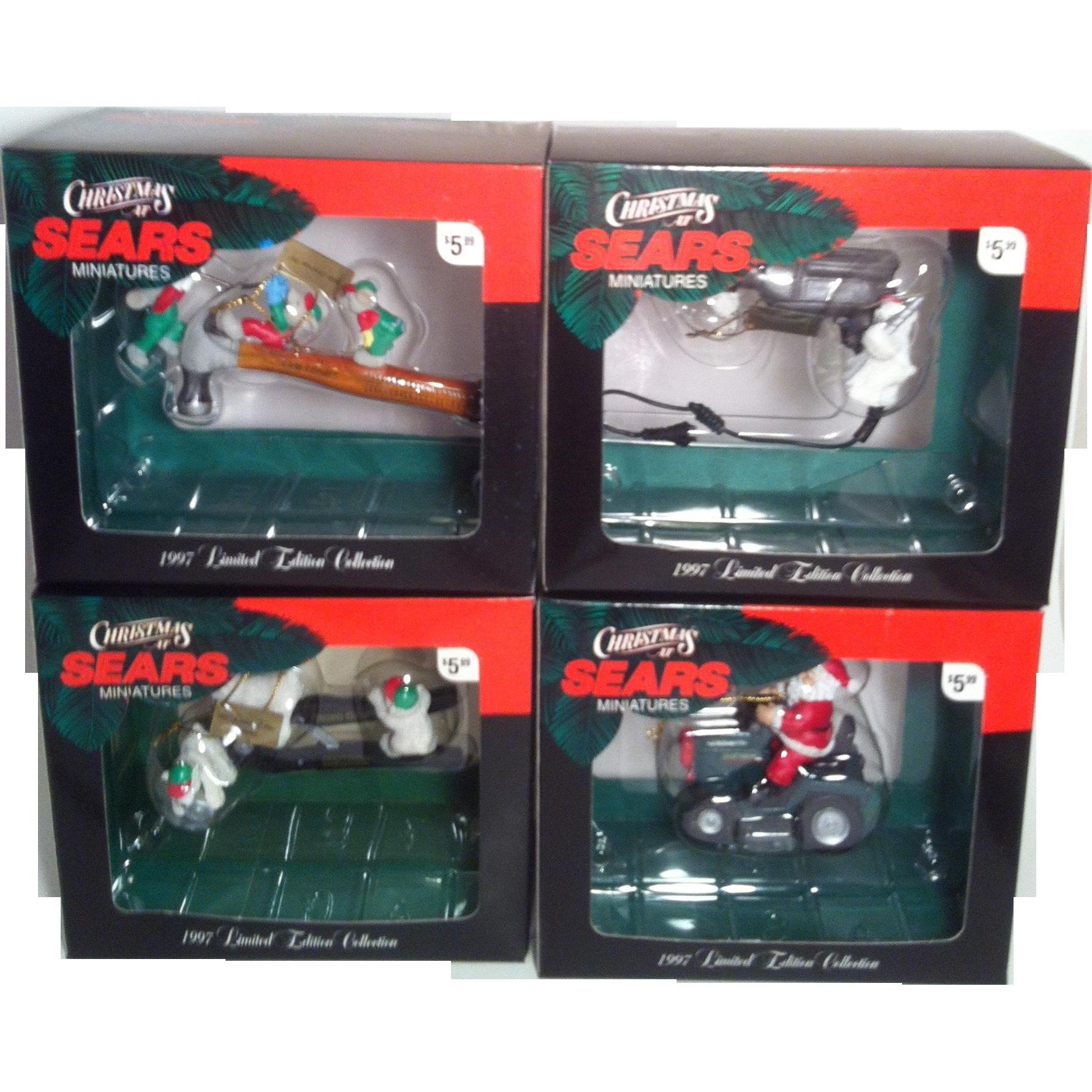 1997 Craftsman Miniature Christmas Ornaments ~ set of 4