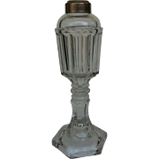 Clear Pressed  Whale Oil Style Lamp ~ 1900's