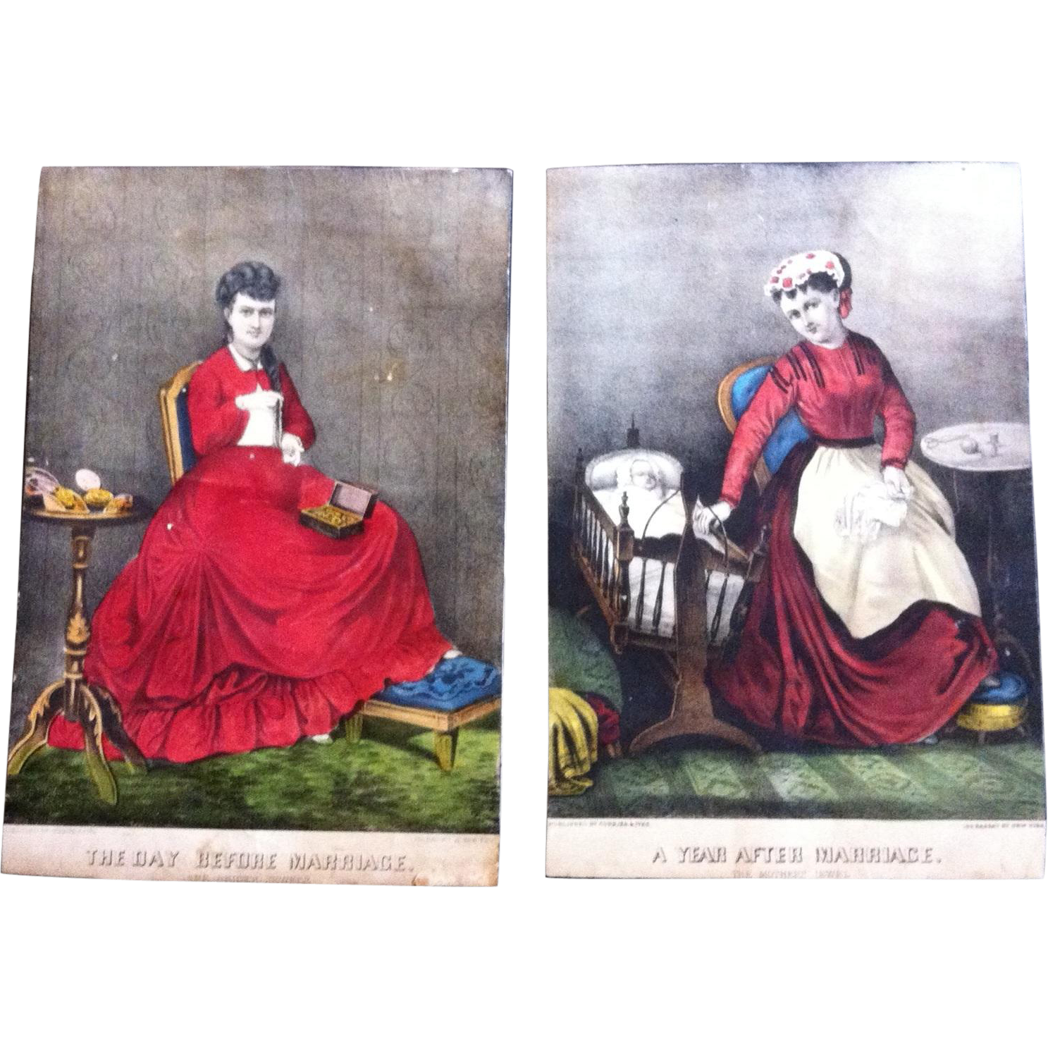 2 Currier & Ives Lithographs